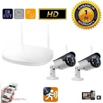 WiFi IP vezeték nelküli kamera rendszer 2db HD kamerával