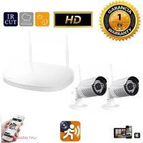WiFi IP vezeték nélküli kamera rendszer 2db HD kamerával fehér