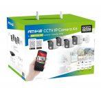 2 Megapixeles 4 kamerás komplett IP rendszer KIT-4240