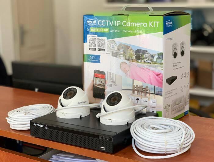 5 megapixeles 2 kamerás IP rendszer komplett szett