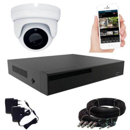 1 kamerás 24 ledes éjjellátó megfigyelő rendszer