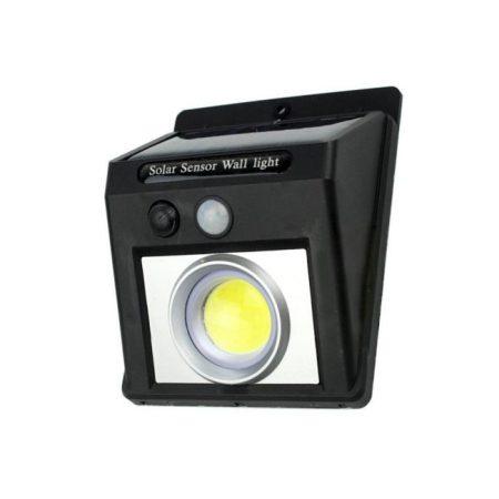 Napelemes kültéri mozgásérzékelős lámpa projektoros világítással