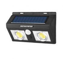 Fali napelemes lámpa kültéri mozgásérzékelős  50 db. 2 tömb ledes változatban