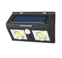Kültéri  mozgásérzékelős fali napelemes lámpa 50 db. 2 tömb ledes változatban
