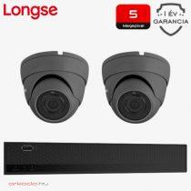 5 Megapixeles 2 dome kamerás biztonsági kamerarendszer