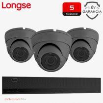 3 dome kamerás 5MP kamerarendszer