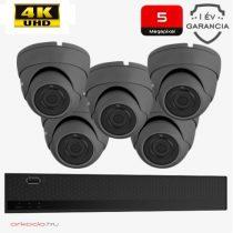 5 dome kamerás 5MP kamerarendszer