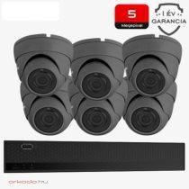 5 Megapixeles 6 dome kamerás biztonsági kamerarendszer