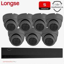 7 dome kamerás 5MP kamerarendszer