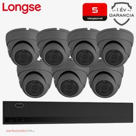 5 Megapixeles 7 dome kamerás biztonsági kamerarendszer