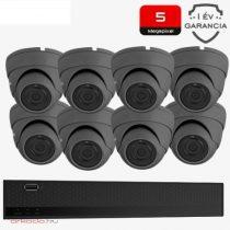 5 Megapixeles 8 dome kamerás biztonsági kamerarendszer