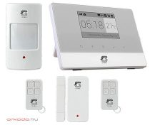 Vezeték nélküli GSM-SMS riasztó szett 99 zóna LCD kijelző