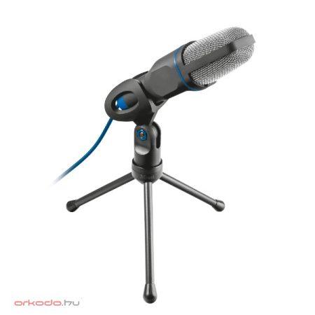 Trust Mikrofon - Mico Studió design; USB csatlakozó; 180cm kábel; állvány; fekete