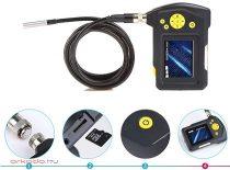 Endoszkóp kamera kijelzővel SD kártya rögzítés NTS100