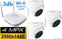 Amiko Home Wifi 3 kamera rendszer 4 MP felbontás