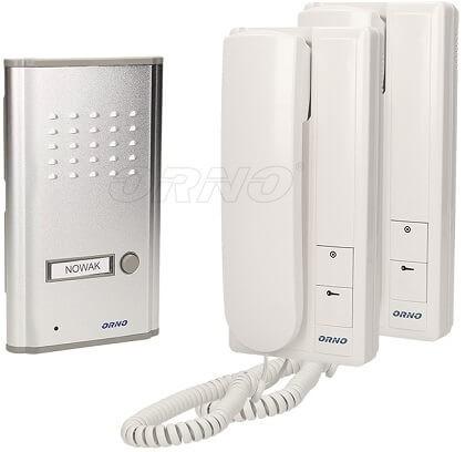 Orno Intercom Audio Gegensprechanlage mit zwei Innengerät