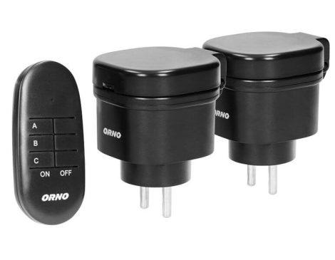Távvezérelhető kültéri dugalj szett két hálózati aljzattal OR-GB-441(GS)