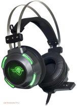 Spirit of Gamer Fejhallgató - ELITE-H30 mikrofon, USB+jack, hangerőszabályzó, nagy-párnás, 2.1m kábel, fekete