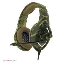 Spirit of Gamer Fejhallgató - ELITE H50 Army mikrofon, 3.5mm Jack, PC PS4 Xbox ONE, hangerőszabályzó, nagy-párnás
