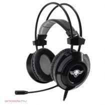 Spirit of Gamer Fejhallgató - ELITE-H70 Black 7.1, mikrofon, USB, hangerőszabályzó, nagy-párnás, 2.4m kábel, fekete