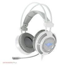 Spirit of Gamer Fejhallgató - ELITE-H70 White 7.1, mikrofon, USB, hangerőszabályzó, nagy-párnás, 2.4m kábel, fehér