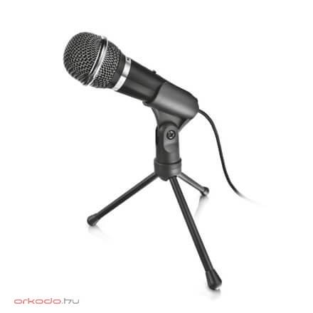 Trust Mikrofon - Starzz (Studio design; 3.5mm jack; 250cm kabel; Stativ; schwarz)