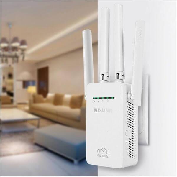 PIX-LINK Wifi jelerősítő repeater 4 antennával