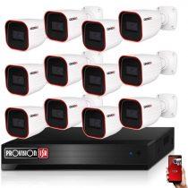 Provision AHD-23 Überwachungssystem mit 12 Kameras HD 1920x1080P