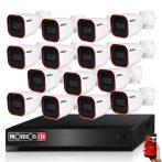 Provision AHD-23 15 kamerás megfigyelő kamerarendszer 2MP FULL HD