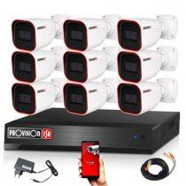 Provision AHD-23 9 kamerás megfigyelő kamerarendszer 2MP FULL HD