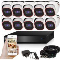 Provision AHD-23 dome 10 kamerás megfigyelő kamerarendszer 2MP FULL HD