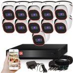 Provision AHD-23 dome 11 kamerás megfigyelő kamerarendszer 2MP FULL HD