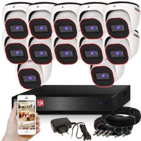 Provision AHD-23 dome 12 kamerás megfigyelő kamerarendszer 2MP FULL HD