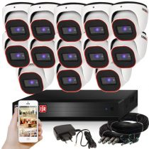 Provision AHD-23 dome 13 kamerás megfigyelő kamerarendszer 2MP FULL HD