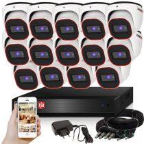 Provision AHD-23 dome 14 kamerás megfigyelő kamerarendszer 2MP FULL HD