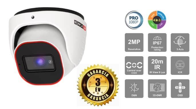 Provision dome kamera 2MP 1080P AHD DI-320A-28