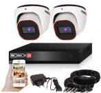 Provision AHD-23 dome 2 kamerás megfigyelő kamerarendszer 2MP FULL HD