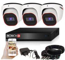 Provision AHD-23 dome 3 kamerás megfigyelő kamerarendszer 2MP FULL HD