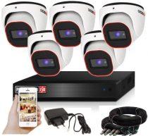 Provision AHD-23 dome 5 kamerás megfigyelő kamerarendszer 2MP FULL HD