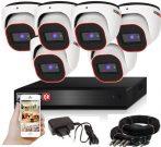 Provision AHD-23 dome 6 kamerás megfigyelő kamerarendszer 2MP FULL HD