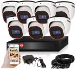 Provision AHD-23 dome 7 kamerás megfigyelő kamerarendszer 2MP FULL HD