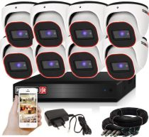 Provision AHD-23 dome 8 kamerás megfigyelő kamerarendszer 2MP FULL HD