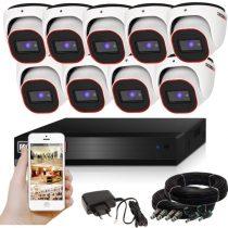 Provision AHD-23 dome 9 kamerás megfigyelő kamerarendszer 2MP FULL HD