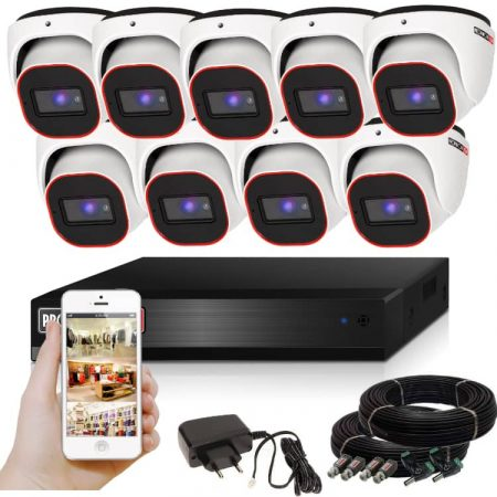 Provision AHD-23 Dome Kamerasystem mit 9 Kamera HD Full HD 1920x1080