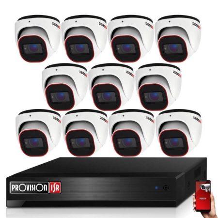 Provision AHD-36 dome 11 kamerás megfigyelő kamerarendszer 2MP FULL HD