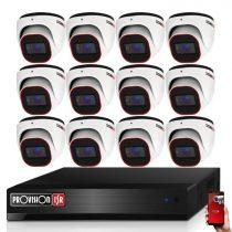 Provision AHD-36 dome 12 kamerás megfigyelő kamerarendszer 2MP FULL HD