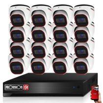 Provision AHD-36 dome 16 kamerás megfigyelő kamerarendszer 2MP FULL HD