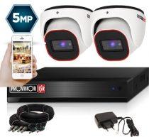 5 MegaPixel Provision AHD-20 Dome 2 kamerás kamera rendszer