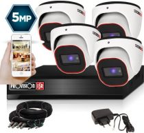 5 MegaPixel Provision AHD-20 Dome 4 kamerás kamerarendszer