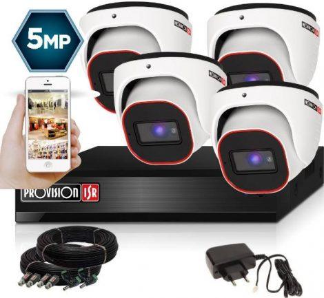5 MegaPixel Provision AHD-20 Dome 4 kamerás kamera rendszer